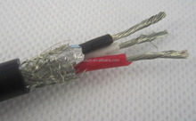 3core silicone insulation aluminium foil wrapped copper wire and braided shielding cable
