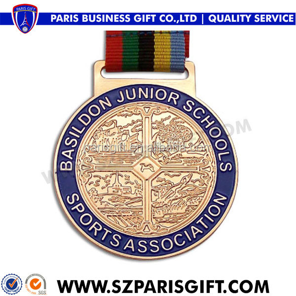 embossed custom gold sports medal for school association