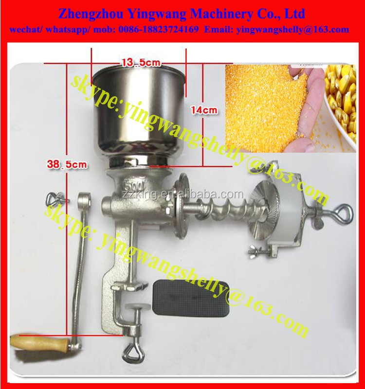 Hand operate manual home use corn/grain/chilli grinder