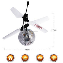 RC Flying Ball, RC infrared Induction Helicopter Ball Built-in Shinning LED Lighting for Kids, Colorful Flyings for Kids