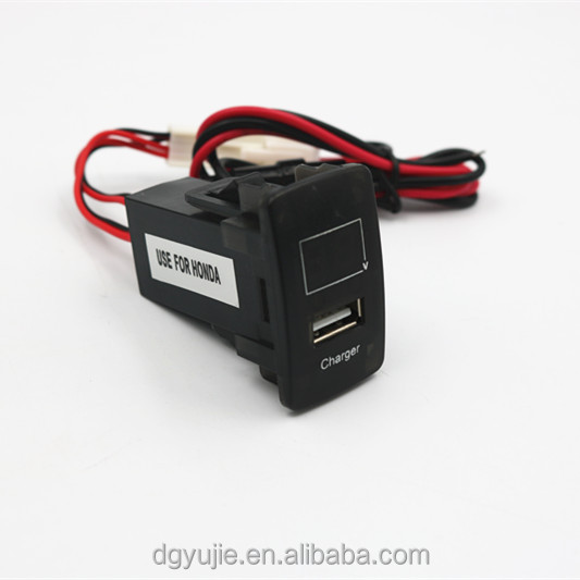 Hot sale waterproof USB charger with Led Digital Voltmeter for RV/ aoto/boat