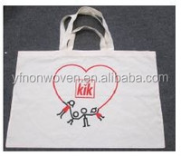 2015 hottest promotion canvas tote bag with logo print