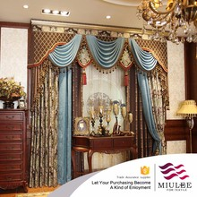 luxury bead gold European style curtain with good quality