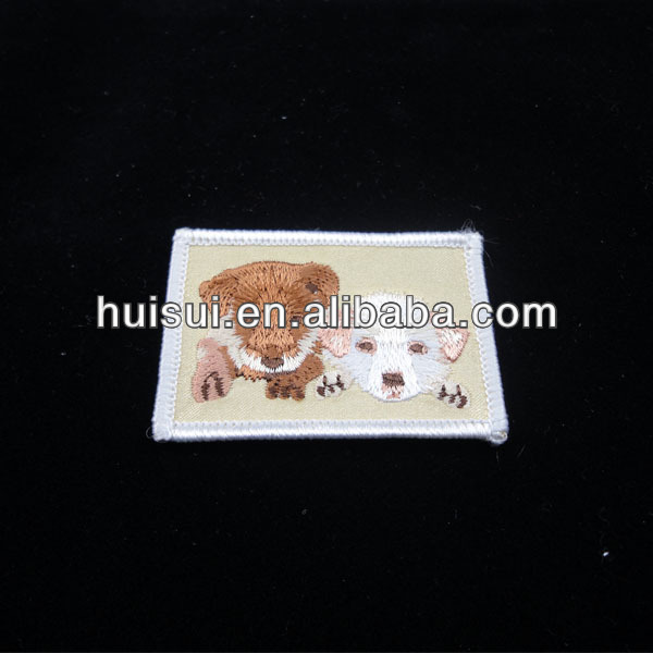 High quality plain embroidery patch