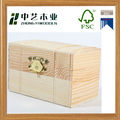 Wholesales handmade rectangular unfinished pine small wooden jewelry gift box