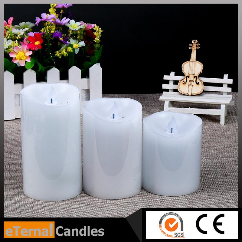 Professional led small night lights oil lamp shape with real flame