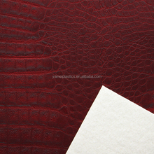 spray printing pvc imitation crocodile leather for upholstery furniture decoration and bags