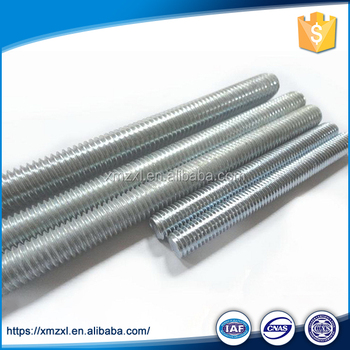 Galvanised Full Low Carbon Steel Zinc Plated Threaded Rod