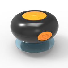 Uiskey IPX4 Waterproof Wireless Speaker 3W with suction cup and built in microphone for hands free call and music play
