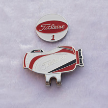 No.1 Brand Logo Metal magnet Golf Hat Clips With Ball Marker For Golf Club Gifts