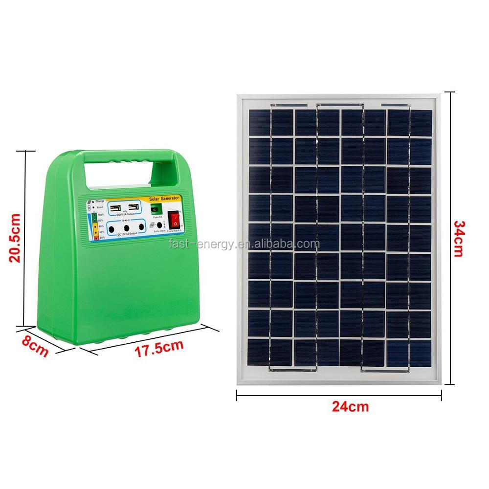 10W portable home use solar panel system solar power kits solar power magnetic generator with battery