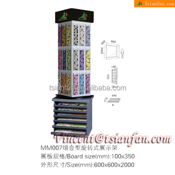 Customized Combined Ceramic Tile And Mosaic Displaying Stand Mosaic Display Rack