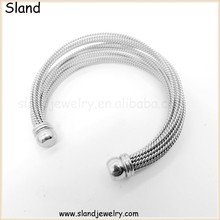 New products Wholesale quality AAA fashion friendship 316l stainless steel silver cable wire bangles