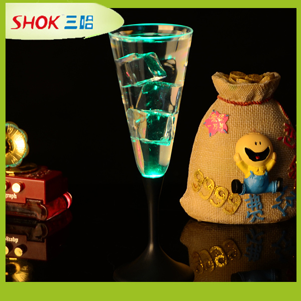 led wine glass led glowing glass