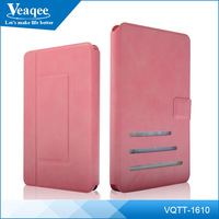 Veaqee Folding stand leather table case with clear back cover for ipad