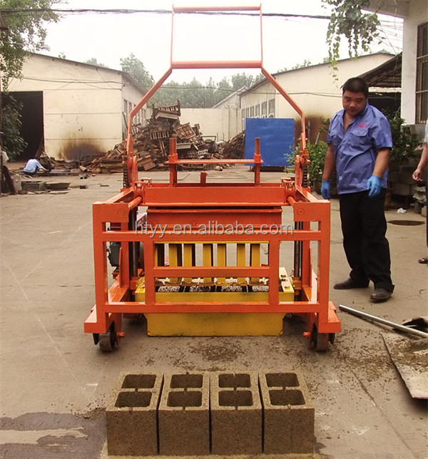 QCM4-45 Small Diesel Power Mobile Egg Laying Block concrete block Making Machine for sale