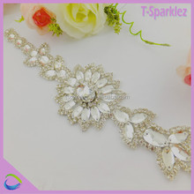 rhinestone sash belt with high quality stones