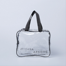 Eco-friendly cheap clear vinyle pvc zip lock plastic bag with totes
