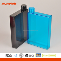 Office use transparent colorful bpa free plastic hip flask