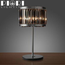 Chrome Lampshade modern crystal table lamp