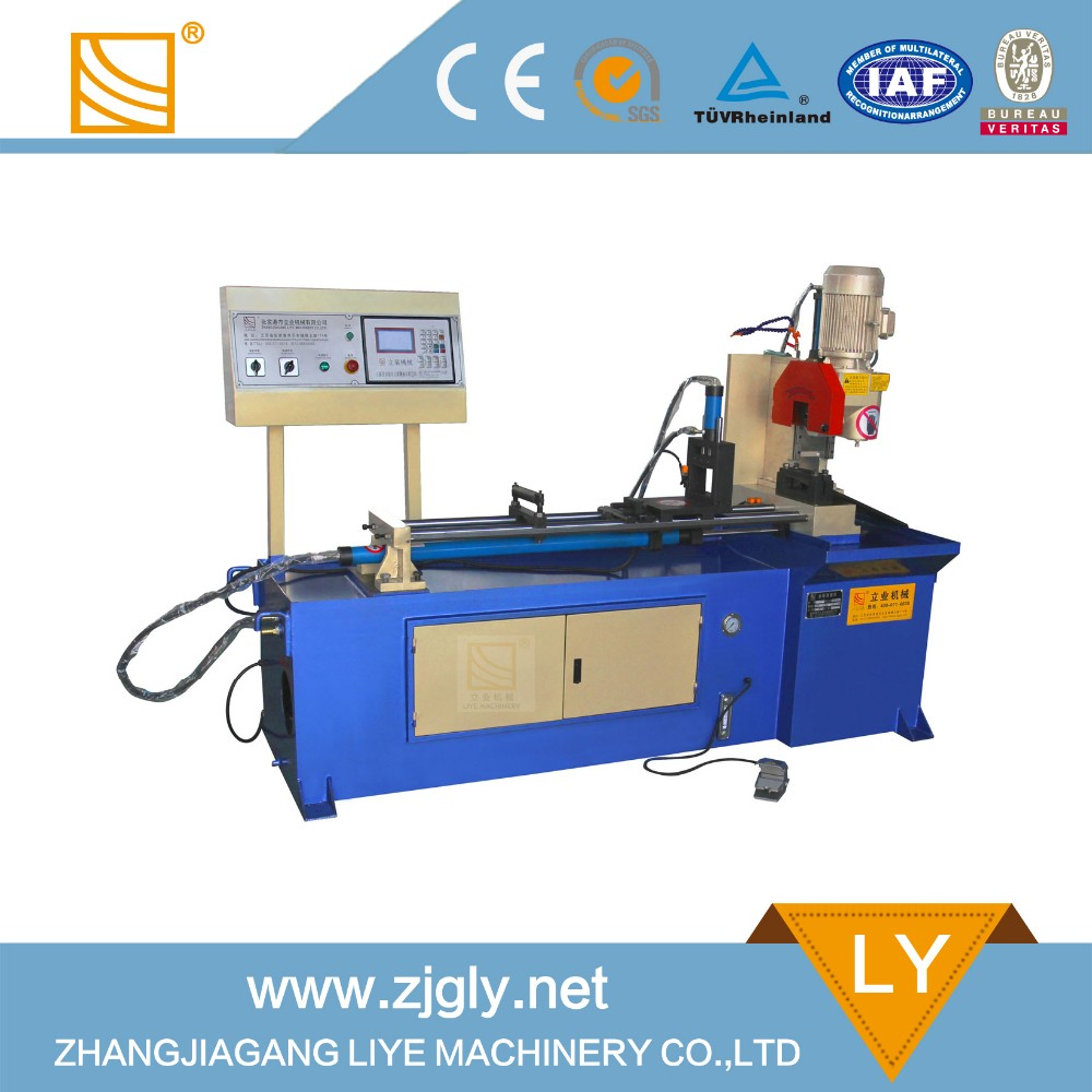 YJ-325CNC hydraulic feeding automatic loading cut off machine for cutting tube