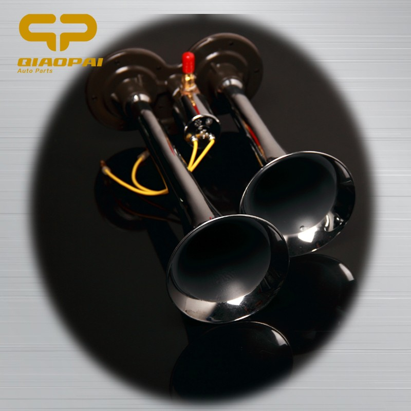 super loud 150DB 12V /24V chrome siren car two pipes dual ways electric Air Horn trumpet for Truck Boat Motorcycle
