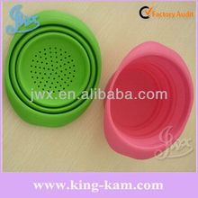 Portable Travel Folding Retractable Silicone Pet Water Food Feeding Dog Travel Bowl Pet bowl with lid silicone collapsible bowl