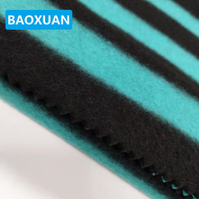 Super Soft Polar Micro Fleeceyarn dyed stripe fleece Knit Fabrics for Garment