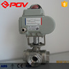 Flange 3 way electric motor ball valve