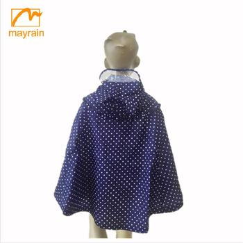 Factory price baby girl dress type raincoat angle swing kid dress children clothes