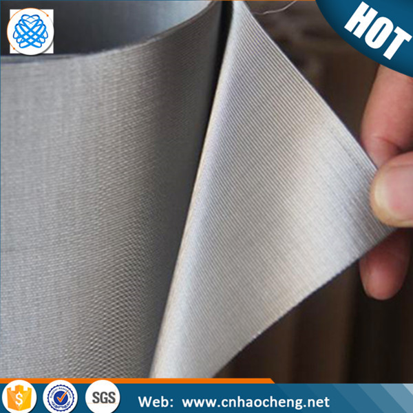 stainless steel 316 316 L woven metal fabric 25 micron woven mesh screen