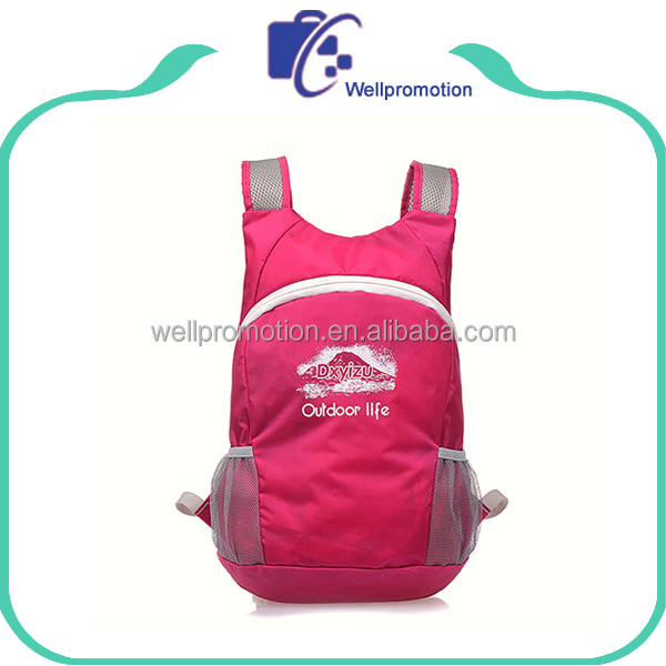 wellpromtion hot selling promotional foldable backpack bagpack, fashion folding rucksack