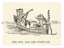 (edward-lear-the-owl-and-the-pussy-cat-went-to-sea-in-a-beautiful-pea-green-boatoil painting art for living room
