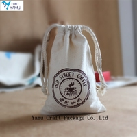 Custom logo print small jute jewelry pouch jute bag wholesale