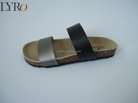 2016 wholesale metallic Pu strapes cork BIO fashion sandals for ladies