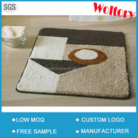 New hot sale microfiber polyester shaggy bathroom rug / Many colors optional and size can be customized Bath mat