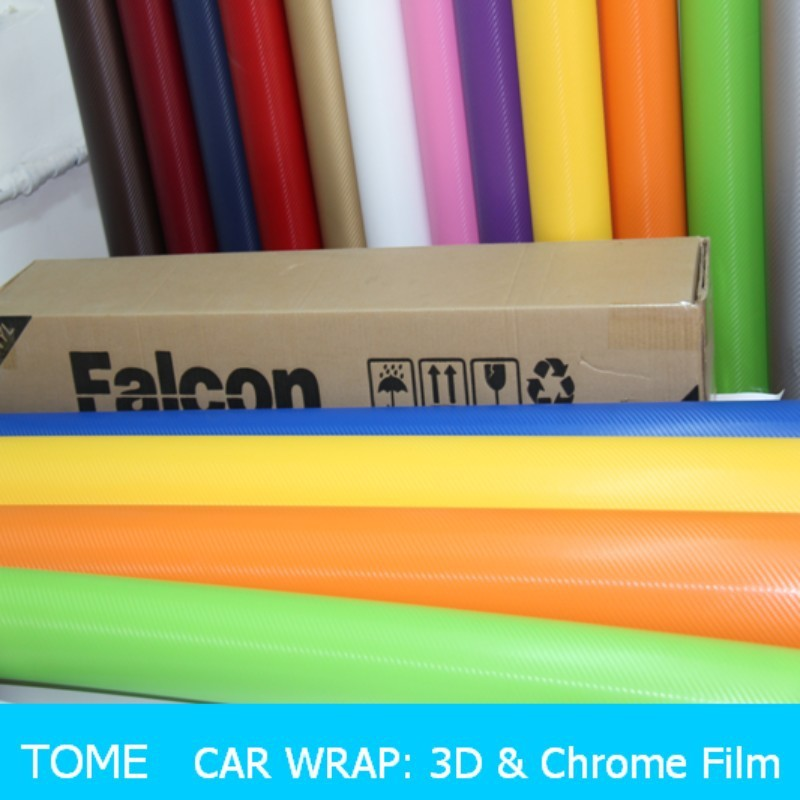 Car Protection and Decoration Air Release 3D Carbon Fiber Vinyl, Car Body Wrapping