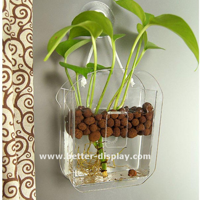 Acrylic Plastic Flower Vaseyuanwenjun