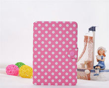 Pink Flip Polka Dots Leather Case for iPad Mini