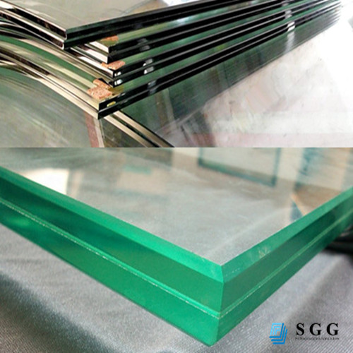 Manufacture CE certificate largest safety laminated glass