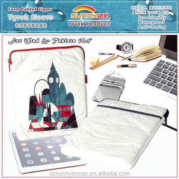 Hot selling Durable Tyvek Wholesale Tablet/Laptop Protective Zipper Travel Bag