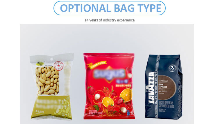 Automatic puffed food popcorn packaging machine, pop corn plastic bag packing machine suppliers