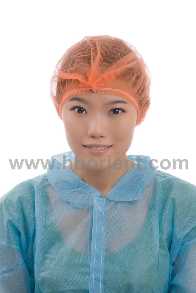 Disposable colored medical PP nonwoven mob clip cap