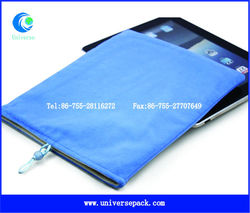 Light blue custom velvet bag for mini ipad