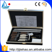 wooden case gun cleaning kit .26 pcs aluminum case gun cleaning kit