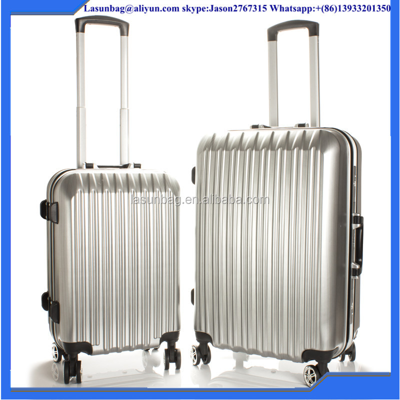 "Hot Sale 20"" universal wheel ABS travel style trolley luggage bag with cup holder"