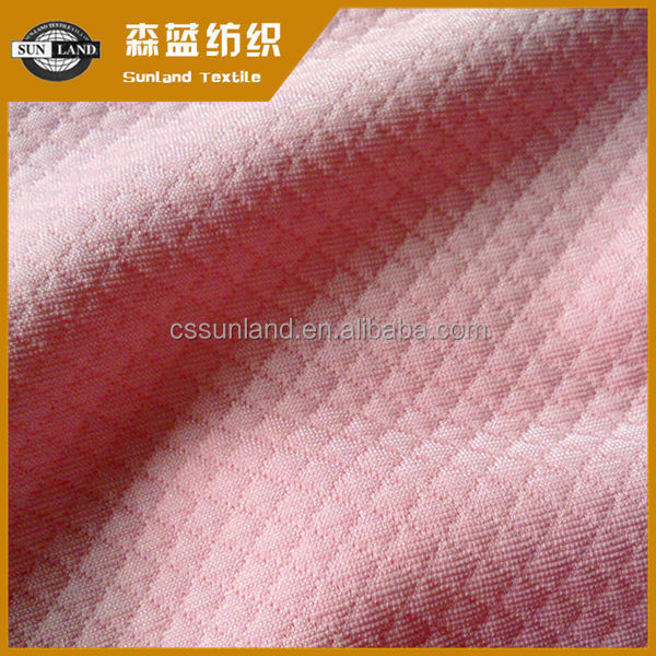 100% polyester knit diamond the air layer fabric for home textile