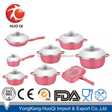 Die-casting colorful dessini cookware set sauce pan