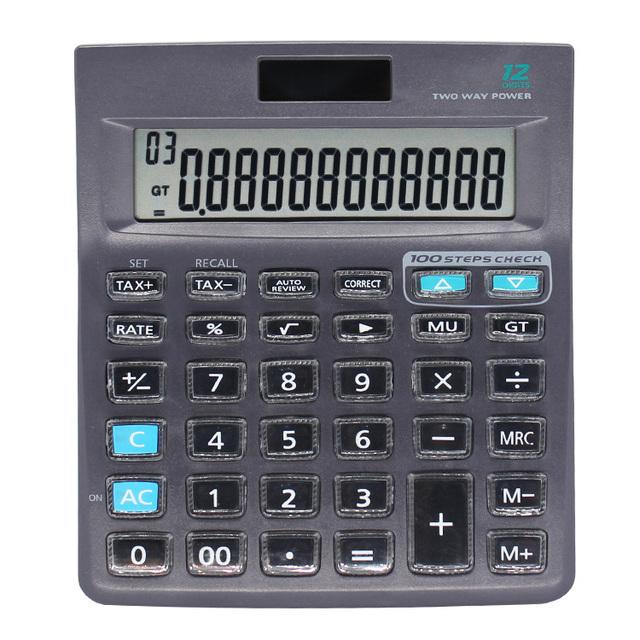 Novelty Office Desktop Crystal Keyboard Dual Power TAX Calculator