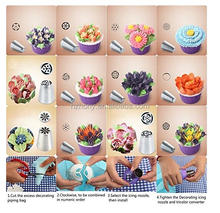 23-Pcs Set Professional and reusable product For Cupcakes Decoration Easy to wash and handle Russian Piping Tips